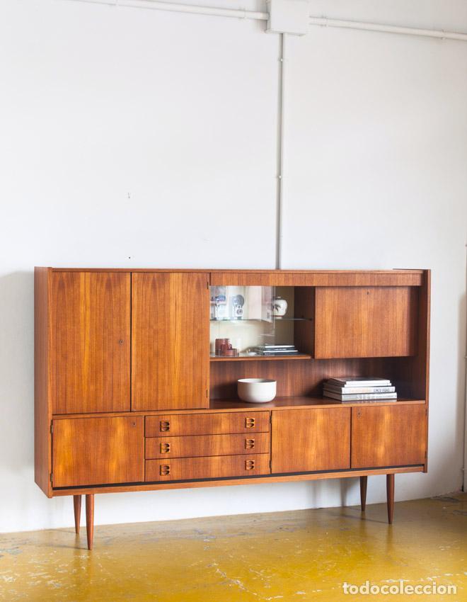 vintage aparador en madera de teca de diseo escandinavo francia aos
