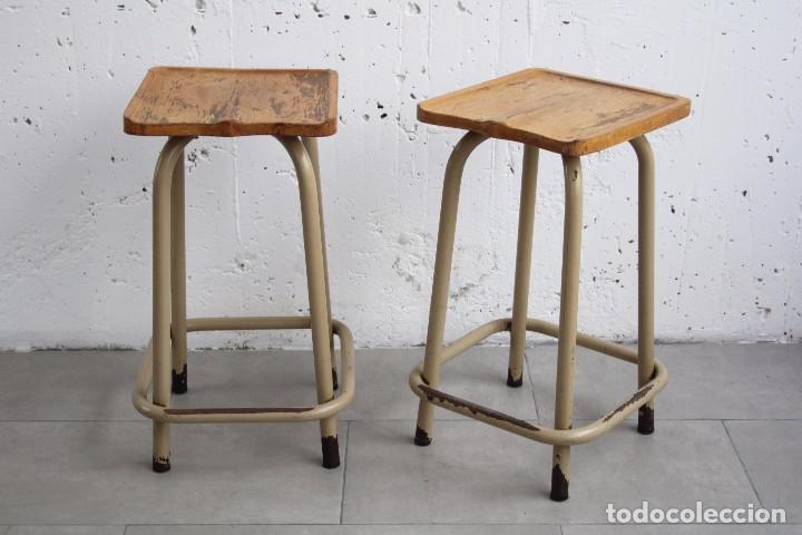 pareja 2 taburete taburetes. industrial. taller - comprar muebles