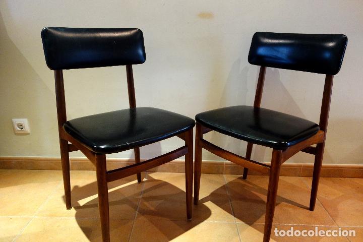 Pareja de sillas de madera vintage espa a a os comprar - Sillas anos 60 ...