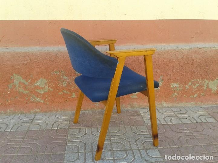 Vintage: Butaca nórdica silla antigua vintage estilo escandinavo sillas vintage estilo danés, estilo nórdico. - Foto 4 - 66942946