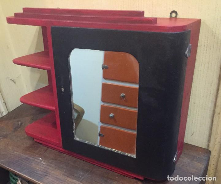 Mueble de ba o pintado de rojo y negro comprar muebles - Mueble bano vintage ...