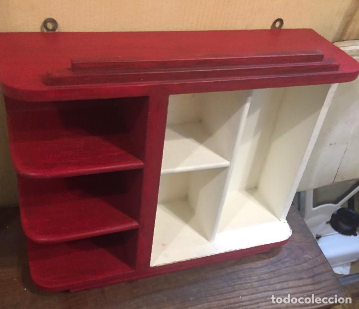 Mueble de ba o pintado de rojo y negro comprar muebles - Muebles online vintage ...