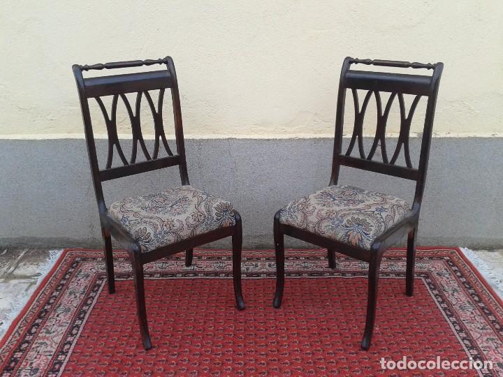 Pareja de sillas antiguas vintage sillas retro comprar for Muebles retro online