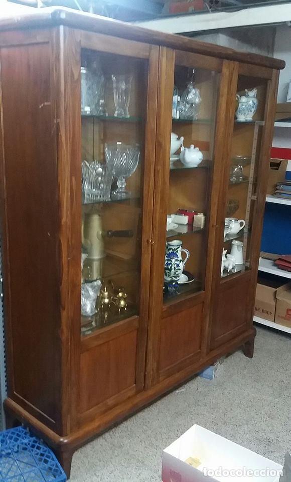 Mueble vitrina madera a os 50 comprar muebles vintage en todocoleccion 67668753 - Mueble anos 50 ...