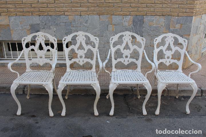 4 sillas sillones de jardin en aluminio comprar muebles for Sillas de jardin segunda mano