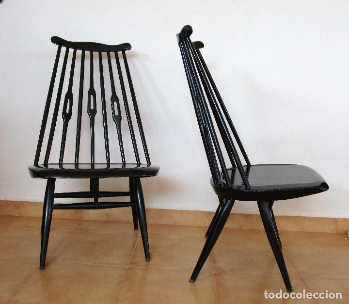 Lote 2 sillas antiguas vintage dise o nordico e comprar for Sillas diseno escandinavo
