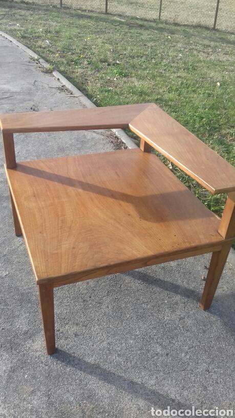 Original mesa esquinera de madera dise o n rd comprar for Mesa esquinera madera