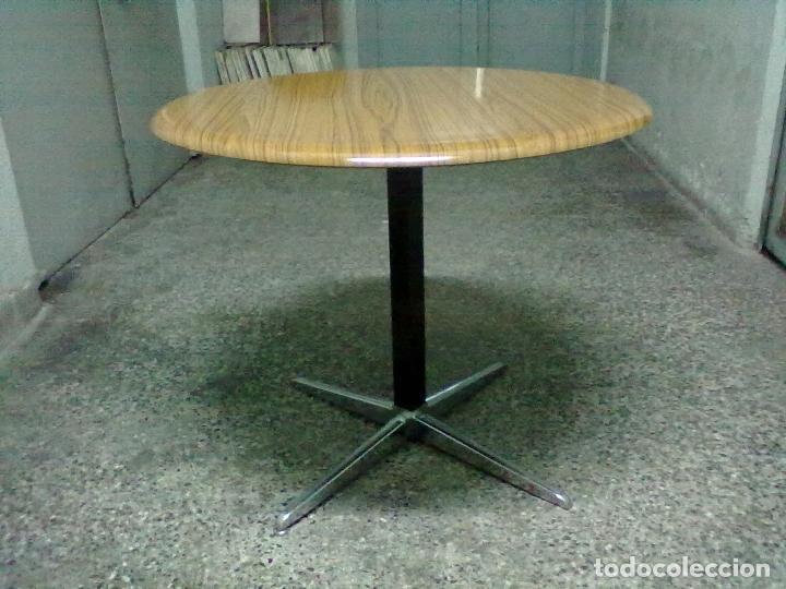 Mesa redonda formica hierro comprar muebles vintage en - Mesa redonda vintage ...