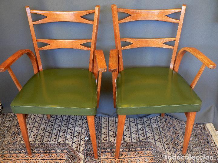 Pareja de sillas con brazos marca mocholi val comprar - Sillas anos 60 ...
