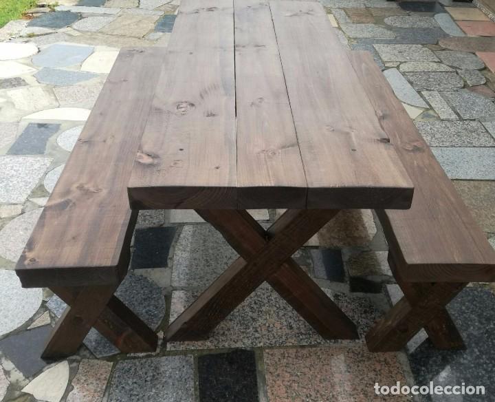mesa rustica comedor de centro con vigas Comprar Muebles