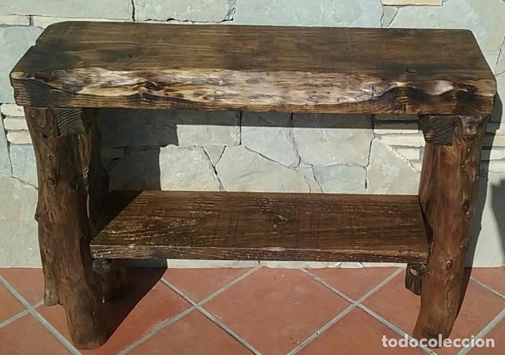 Mesa rustica comedor de centro con vigas comprar - Mesa madera rustica ...