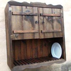 Vintage - platero de madera con 2 puertas , colgar en pared,, mueble ,,, mue365 - 94705886