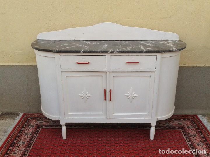 Aparador antiguo vintage mueble auxiliar mueb comprar muebles vintage en todocoleccion - Muebles de cocina retro ...