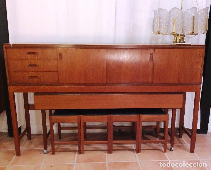 Conjunto de aparador alto mesa de comedor y ta comprar for Muebles retro online