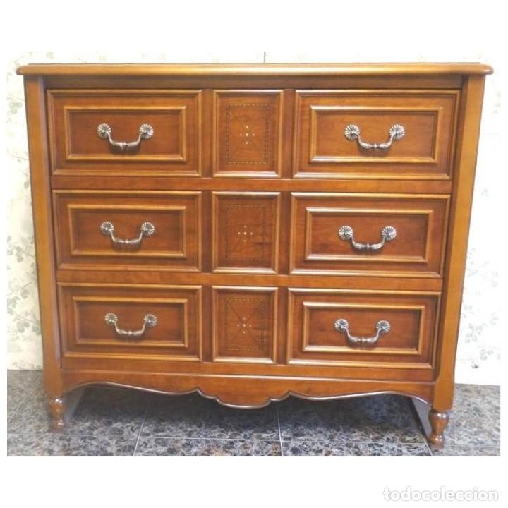 COMODA CEREZO NACAR MEDIDAS 117 X 47 X 104 (Vintage - Muebles)