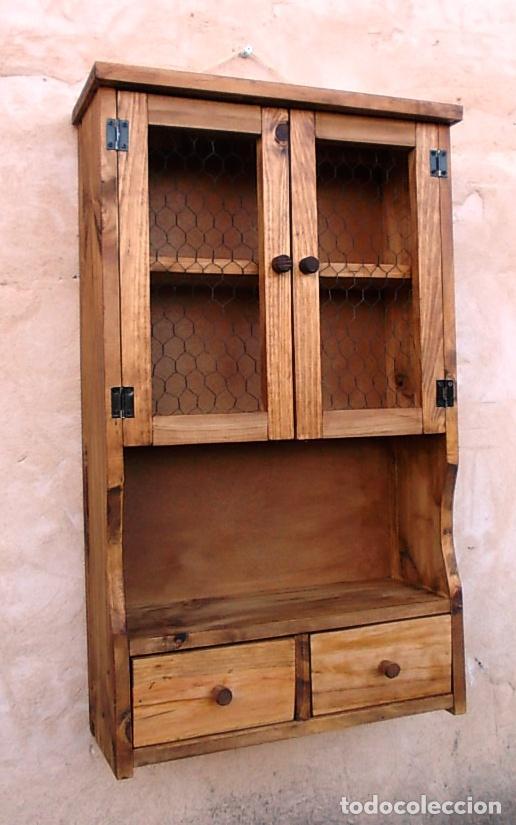 Mueble especiero o alacena de madera vintage comprar for Crear muebles online