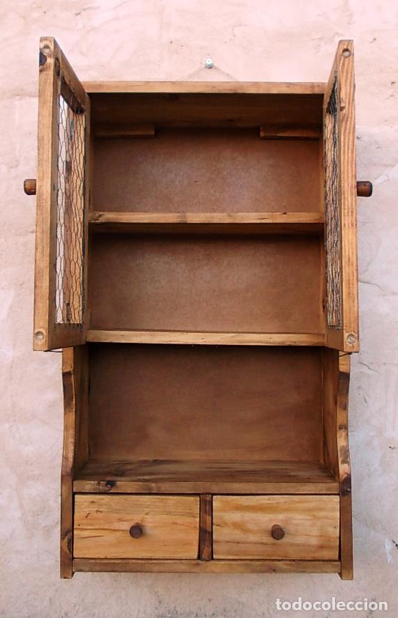 mueble especiero o alacena de madera vintage comprar
