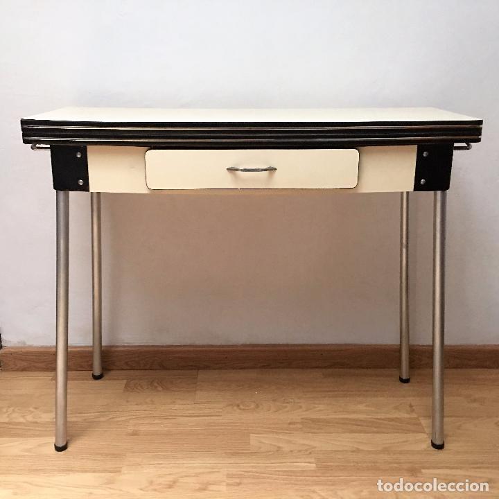 Mesa vintage de cocina a os 60 estrechita 32 comprar - Mesa cocina vintage ...