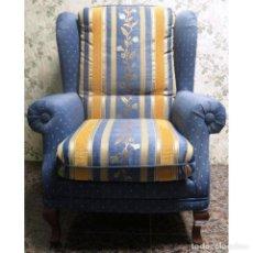 Vintage: SILLON OREJERO AZUL. Lote 72947283