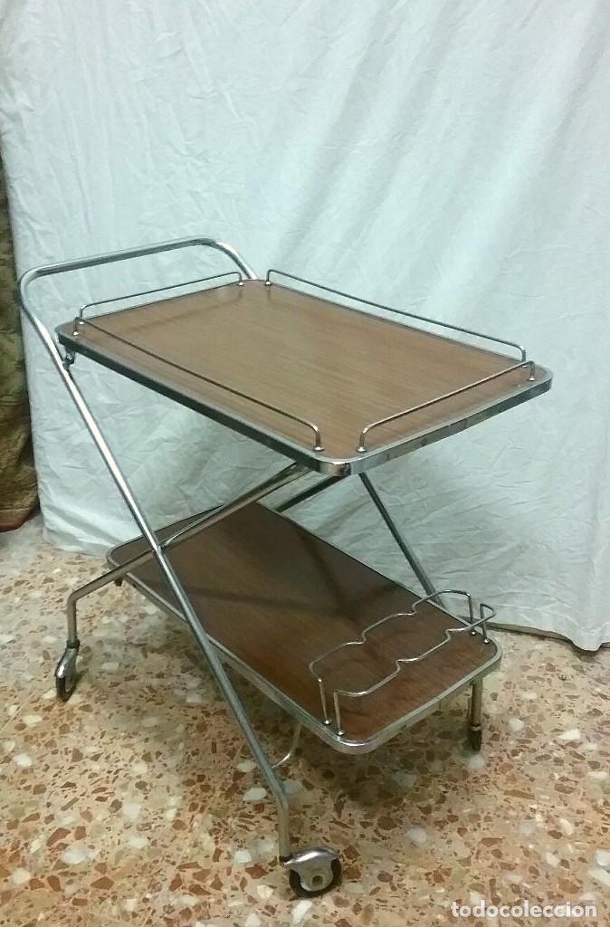 Mesa camarera carrito vintage plegable comprar muebles - Carrito camarera ...