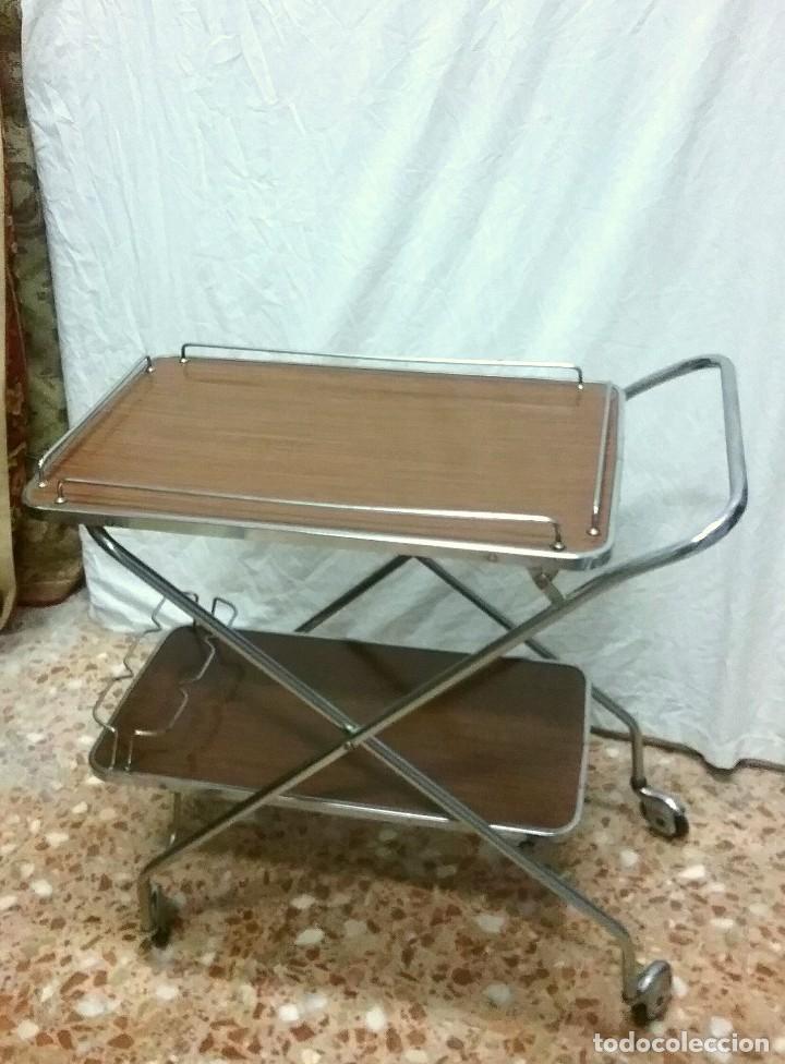 Mesa camarera carrito vintage plegable comprar muebles vintage en todocoleccion 73432723 - Carrito camarera vintage ...