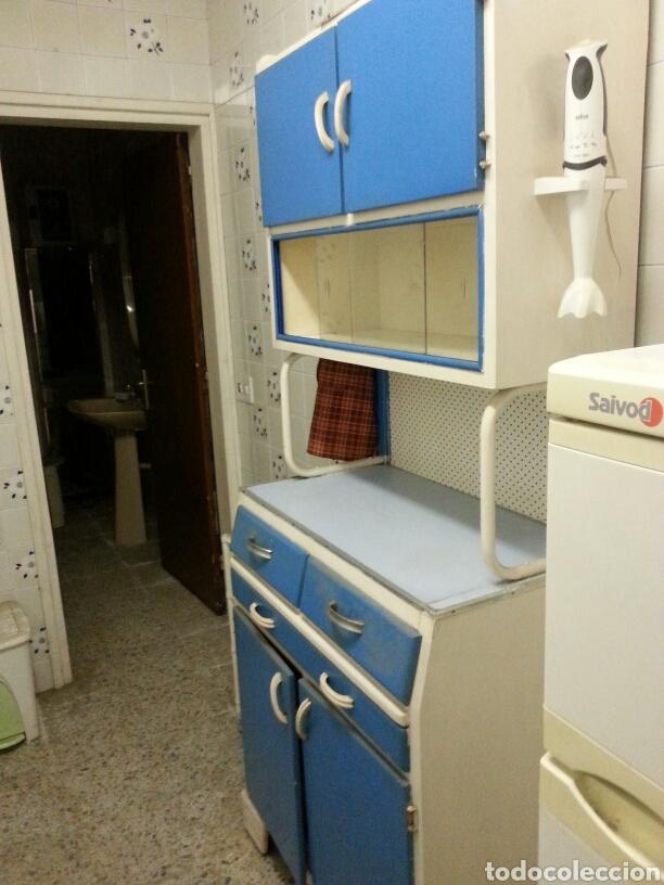 Muebles de cocina vintage affordable affordable cocina rstica con madera blanca with muebles - Muebles de cocina retro ...