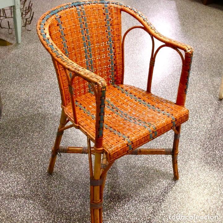 silla sillon butaca bamb mimbre ratan shabby chic antiguo vintage bistro aos