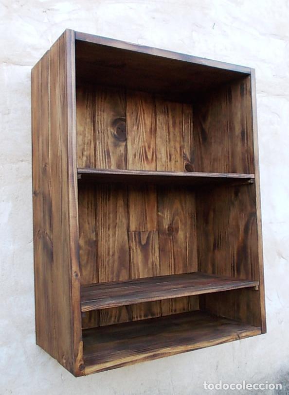 Mueble vitrina estanteria rustico 3 baldas pa comprar - Baldas para cocina ...