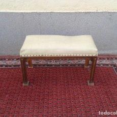 Vintage: ESCABEL ANTIGUO, MUEBLE DESCALZADOR ANTIGUO RETRO VINTAGE, SILLA DESCALZADORA ANTIGUA BANQUETA. Lote 74644555