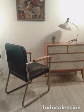 butaca bauhaus vintage aos silla de brazos o silln acero y madera alemn