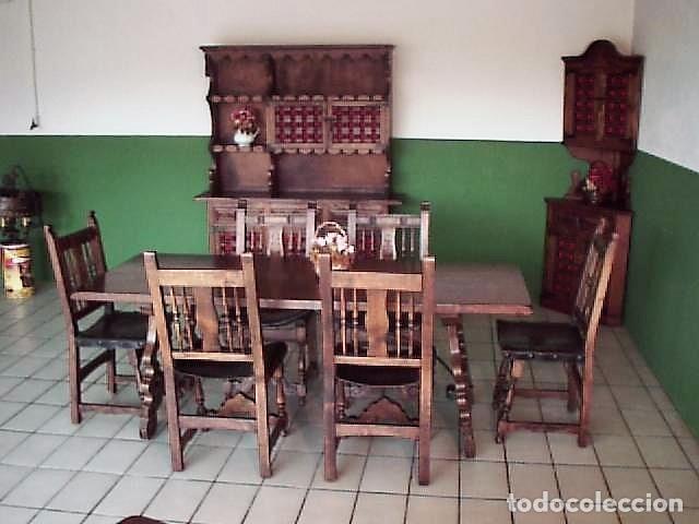 comedor completo estilo castellano en nogal mac - Kaufen Vintage ...