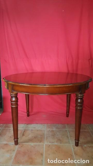 mesa de comedor en madera de forma redonda exte - Kaufen Vintage ...
