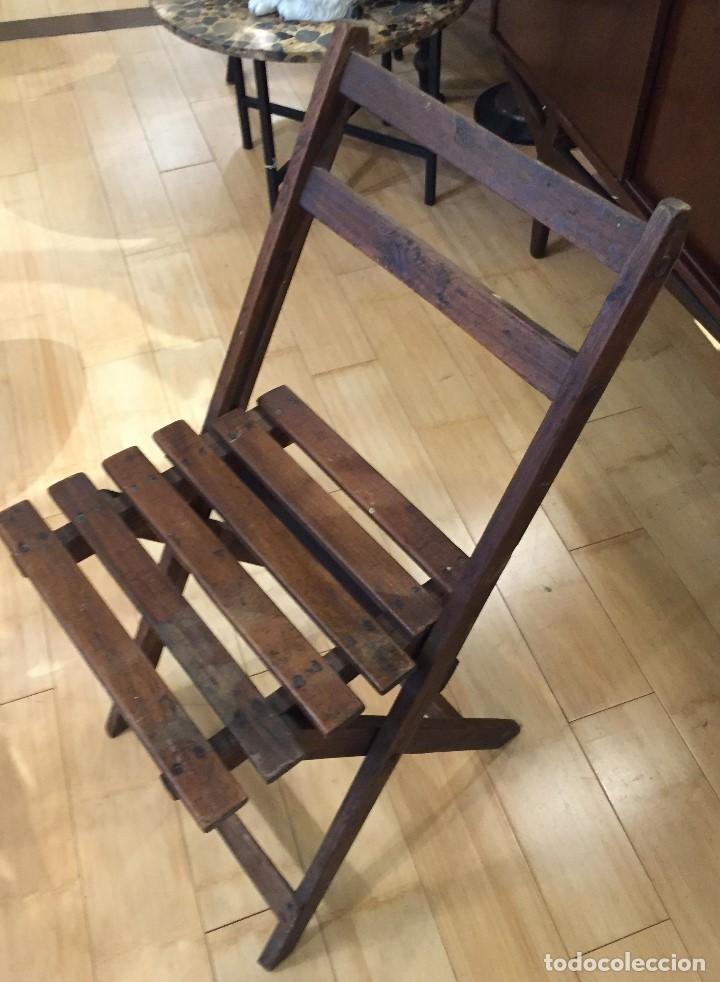 Vintage: Silla plegable en madera - Foto 2 - 77390493