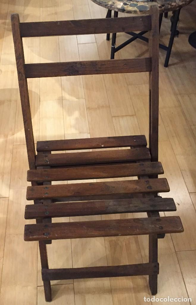 Vintage: Silla plegable en madera - Foto 3 - 77390493