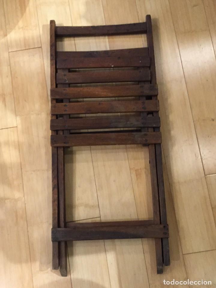 Vintage: Silla plegable en madera - Foto 5 - 77390493