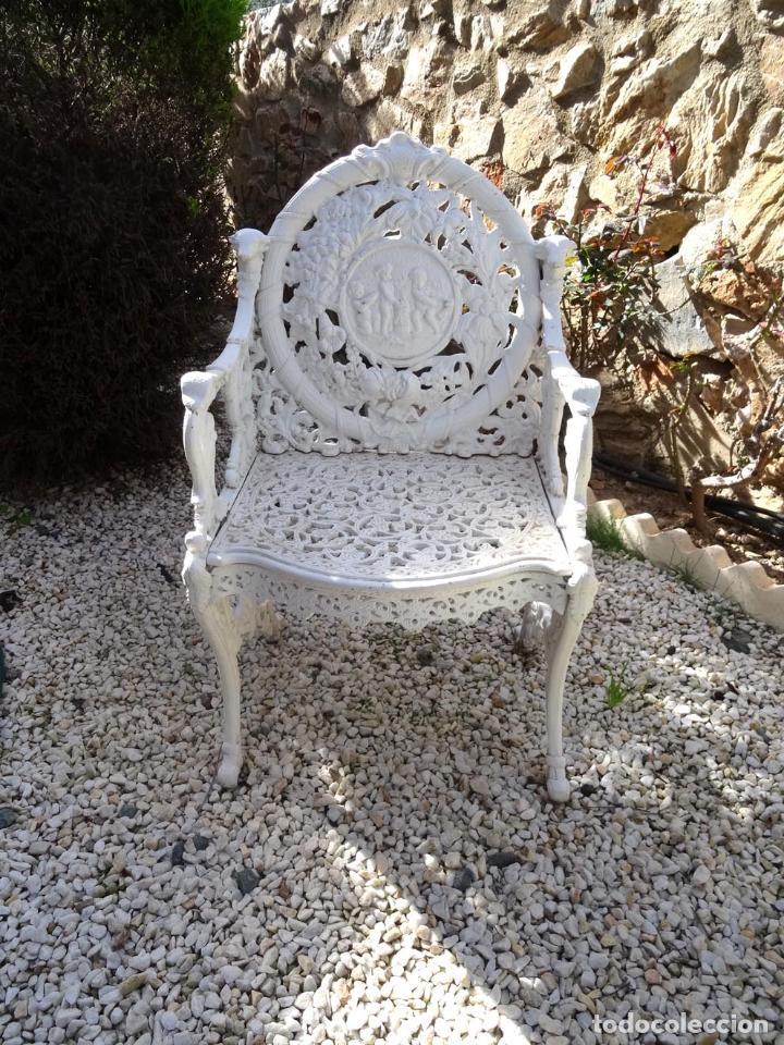 Banco de hierro colado para jard n comprar muebles for Bancos de hierro para jardin