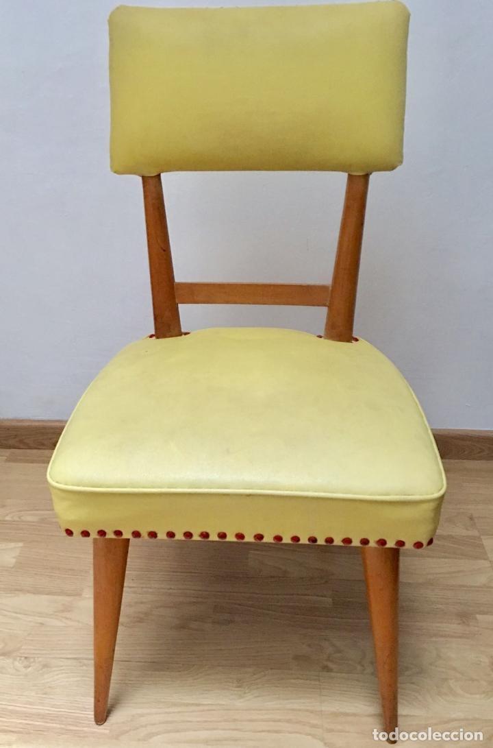 6 sillas de muelles, tapizado original skay ama - Comprar Muebles ...