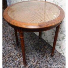 Vintage: VELADOR PATAS CEREZO REJILLA CON CRISTAL TAPA MEDIDAS 72 X 75. Lote 78441781