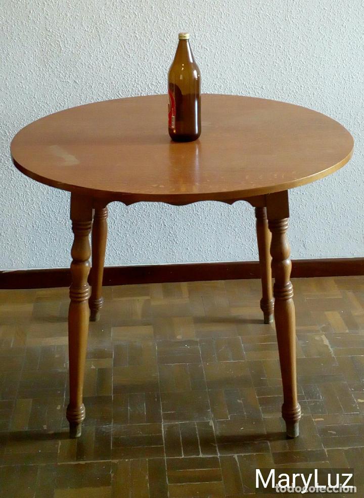 vintage mesa redonda madera de haya aos 80 90 foto - Mesa Redonda Madera
