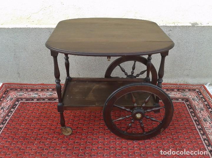 Camarera de madera antigua retro vintage carri comprar muebles vintage en todocoleccion - Carrito camarera vintage ...