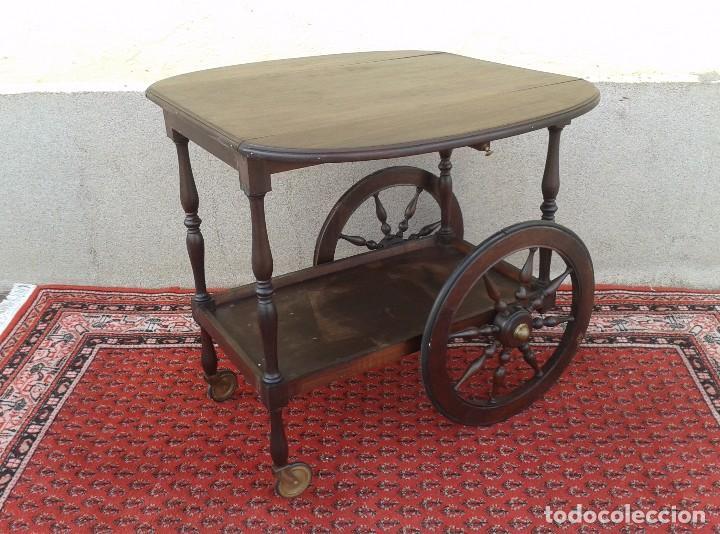 Camarera de madera antigua retro vintage carri comprar for Camarera mueble
