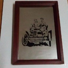 Vintage: ESPEJO CON MARCO DE MADERA. Lote 80324133