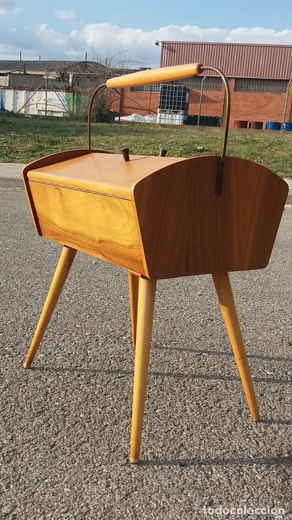 Mueble costurero vintage a os 50 mesa mesita m comprar for Mueble costurero