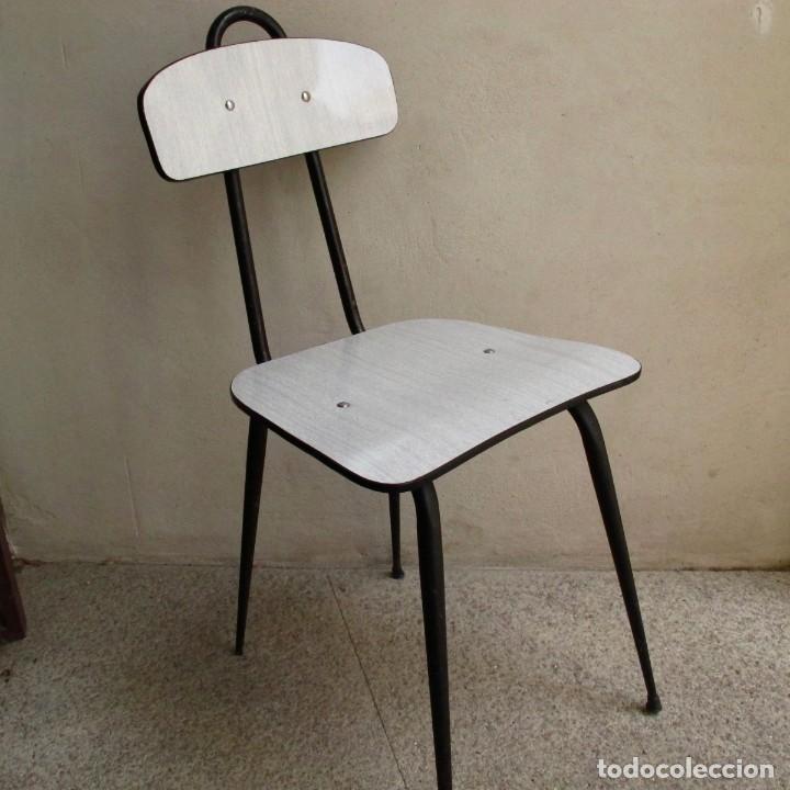 silla años 50 60 vintage antigua formica cocina - Comprar Muebles ...