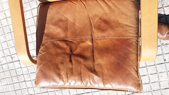 Vintage: Sillón sueco de piel vintage Silla Butaca de cuero Mecedora diseño escandinavo Lounge Chair - Foto 2 - 82102196