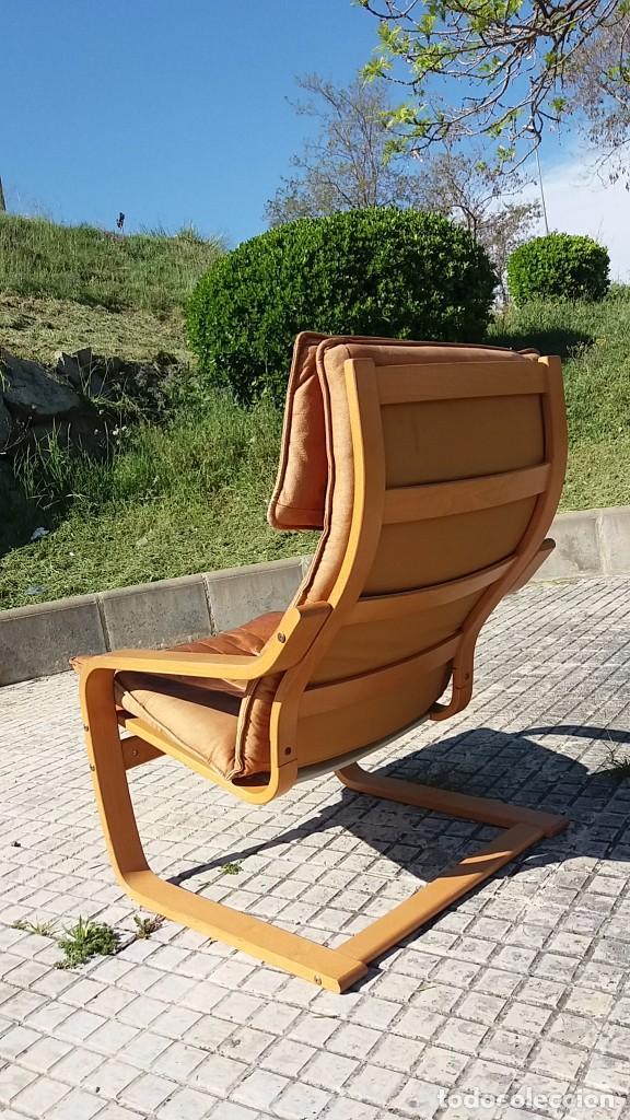 Vintage: Sillón sueco de piel vintage Silla Butaca de cuero Mecedora diseño escandinavo Lounge Chair - Foto 6 - 82102196