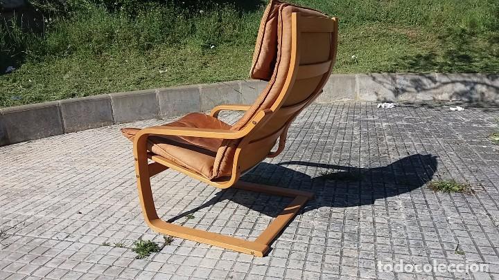 Vintage: Sillón sueco de piel vintage Silla Butaca de cuero Mecedora diseño escandinavo Lounge Chair - Foto 7 - 82102196
