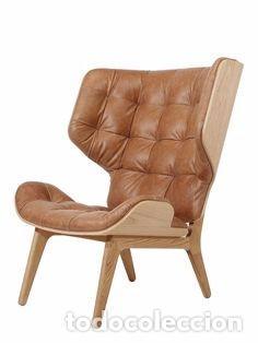 Vintage: Sillón sueco de piel vintage Silla Butaca de cuero Mecedora diseño escandinavo Lounge Chair - Foto 16 - 82102196