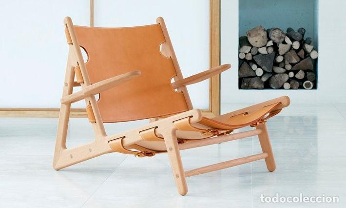 Vintage: Sillón sueco de piel vintage Silla Butaca de cuero Mecedora diseño escandinavo Lounge Chair - Foto 18 - 82102196
