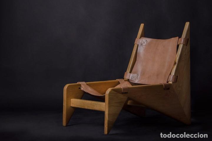Vintage: Sillón sueco de piel vintage Silla Butaca de cuero Mecedora diseño escandinavo Lounge Chair - Foto 28 - 82102196